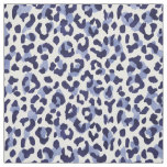 Chic navy blue and white cheetah print pattern fabric