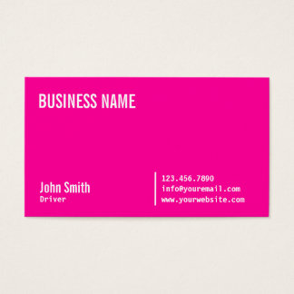 Chic Neon Pink Driver Business Card
