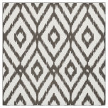 Chic neutral brown beige ikat diamond pattern fabric