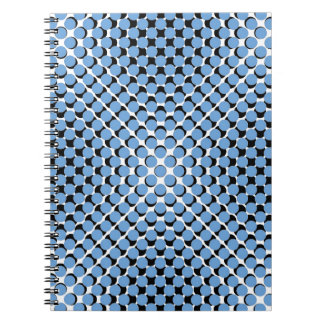 CHIC NOTEBOOK-COOL BLUE ON BLACK DOTS ON WHITE NOTEBOOKS