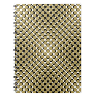 CHIC NOTEBOOK-COOL CAMEL ON BLACK DOTS ON WHITE SPIRAL NOTE BOOKS