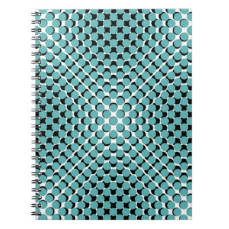 CHIC NOTEBOOK-COOL SEAFOAM ON BLACK DOTS ON WHITE NOTEBOOK