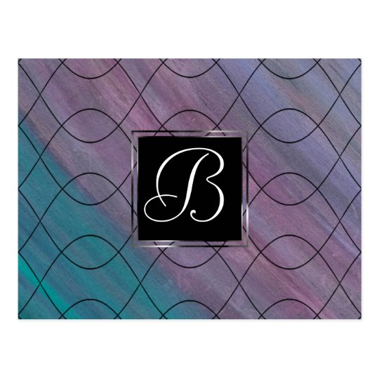 Chic Office | Jewel Pink Teal Turquoise Purple Postcard