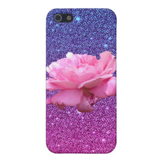 Chic Ombre Glitter Floral iPhone 5/5S Case