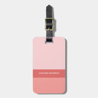 Chic Ombre Pink Travel Luggage Tag