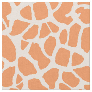 Chic Orange Giraffe Print Girly Animal Pattern Fabric