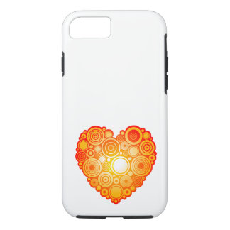 Chic orange heart iPhone 8/7 case
