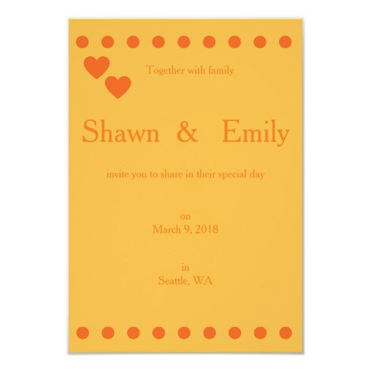 Chic Orange Invitation