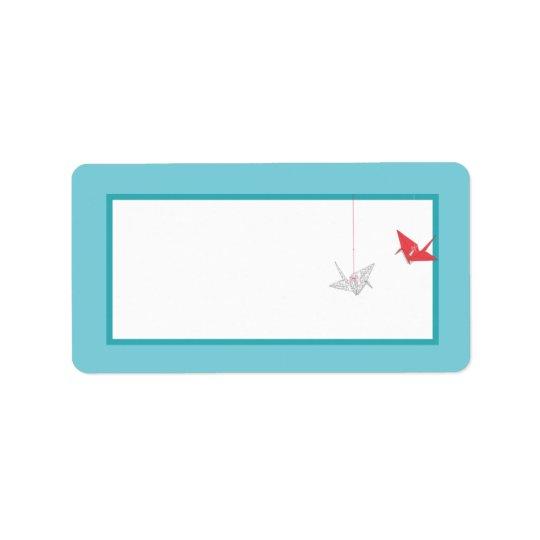 Chic Origami Birds Wedding Mailing Address Label