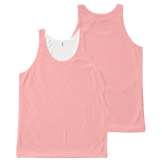 CHIC OVERALL DESIGN TOP_04 BLUSH PINK SOLID All-Over-Print TANK TOP