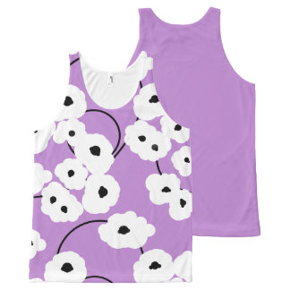 CHIC OVERALL DESIGN TOP_MOD POPPIES All-Over-Print TANK TOP