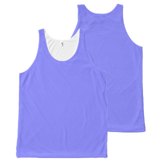 CHIC OVERALL DESIGN TOP_PERIWINKLE SOLID All-Over-Print TANK TOP