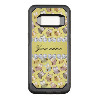 Chic Owls Faux Gold Foil Bling Diamonds OtterBox Commuter Samsung Galaxy S8 Case