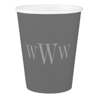 CHIC PAPER CUP_251 GRAY SOLID/MONOGRAM PAPER CUP
