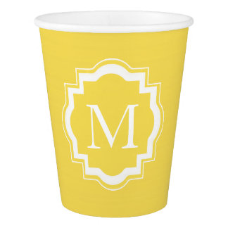CHIC PAPER CUPS_33 BUTTER SOLID/MONOGRAM PAPER CUP