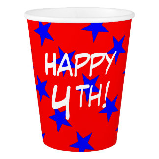 CHIC PAPER CUPS_HAPPY 4TH!_STARS PAPER CUP