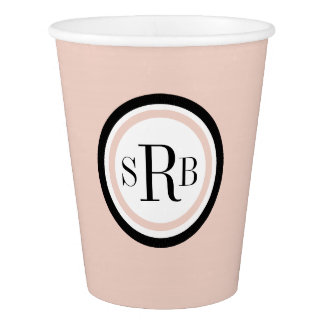 CHIC PAPER CUPS_PINK /WHITE/BLACK PAPER CUP
