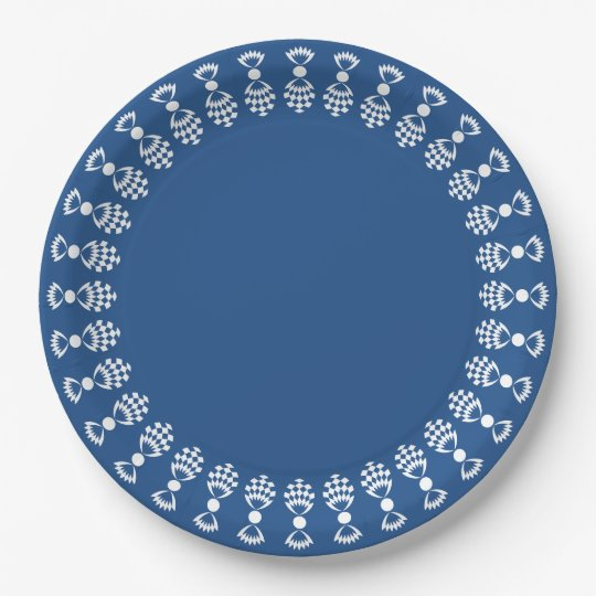 CHIC PAPER PLATE_DIY_CHOOSE YOUR BACKGROUND COLOR 9 INCH PAPER PLATE