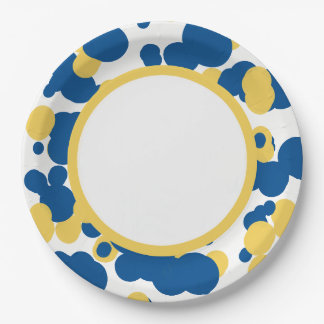 CHIC PAPER PLATE_FUN SPLATTERED DOTS 9 INCH PAPER PLATE