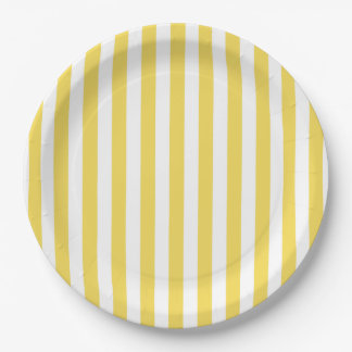 CHIC PAPER PLATE_LOVELY 33 BUTTER STRIPES 9 INCH PAPER PLATE