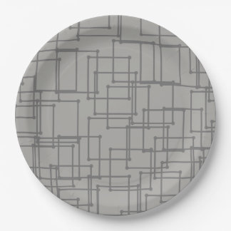 CHIC PAPER PLATE_MOD MONOTON GEOMETRIC _DIY PAPER PLATE
