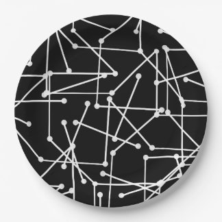CHIC PAPER PLATE_MOD WHITE GEOMETRIC _DIY PAPER PLATE