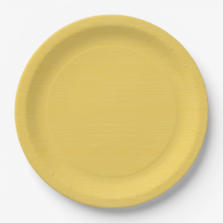CHIC PAPER PLATE_PRIMROSE YELLOW SOLID 9 INCH PAPER PLATE