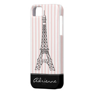 Chic Paris Eiffel Tower Doodle Personalized Case For The iPhone 5