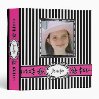 Chic Paris Pink and Black Photo Frame Vinyl Binder
