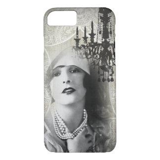 Chic Paris Vintage Chandelier great gatsby girl iPhone 8/7 Case