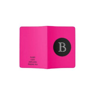 CHIC PASSPORT HOLDER_230 PINK/BLACK/WHITE PASSPORT HOLDER