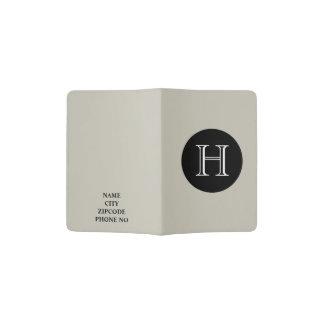 CHIC PASSPORT HOLDER_547 SAND/BLACK/WHITE PASSPORT HOLDER