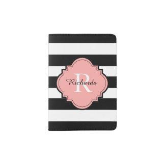 CHIC PASSPORT HOLDER_BLACK/WHITE/04 BLUSH PASSPORT HOLDER