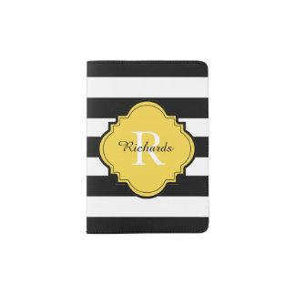 CHIC PASSPORT HOLDER_BLACK/WHITE/57 YELLOW PASSPORT HOLDER