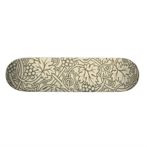 Chic Pattern Grapevine Art Nouveau Design Skateboards