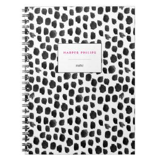 Chic Pattern Notebook, Polka Dot Pattern Spiral Note Books