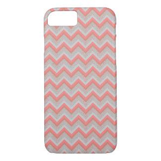 Chic Peach and Sand Chevron iPhone 7 Case