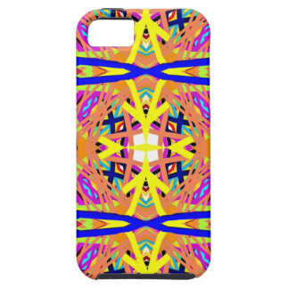 Chic Peach Blue Yellow Tribal Pattern Case For The iPhone 5