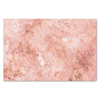 Chic Peach Marble Watercolor Wedding Tissue Paper