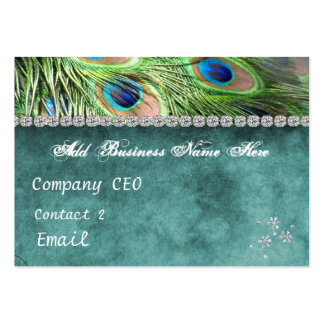 CHIC PEACOCK BLING PURPOSE Business Card