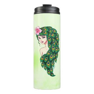Chic Peacock Goddess Stainless Steel Drink Tumbler