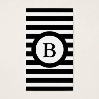 CHIC PERSONAL ID CARD_ 07 BLACK/WHITE STRIPES BUSINESS CARD