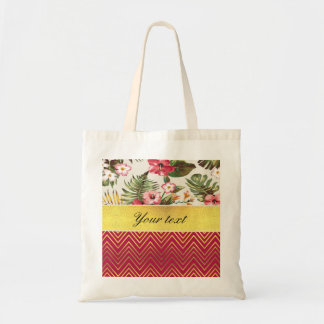 Chic Personalized Hibiscus and Chevrons