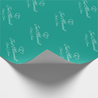 Chic personalized turquoise wedding wrappingpaper
