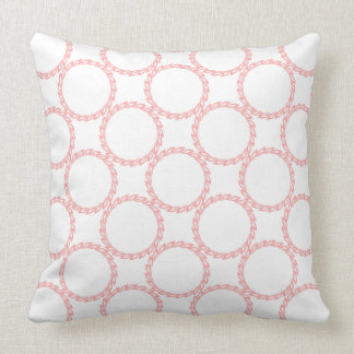 CHIC PILLOW_04 BLUSH PINK FLORAL PATTERN ON WHITE THROW PILLOW