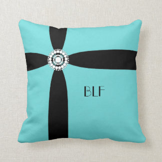 chic pillow,07 _1 ribbon with pearls,monogram throw pillow