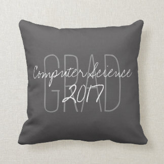 "CHIC PILLOW_""2017 GRAD""  DIY COLOR AND TEXT THROW PILLOW"