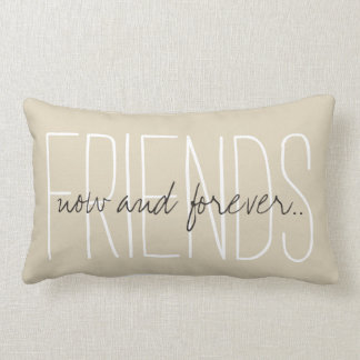 "CHIC PILLOW_""FRIENDS...now and forever..."" Lumbar Pillow"