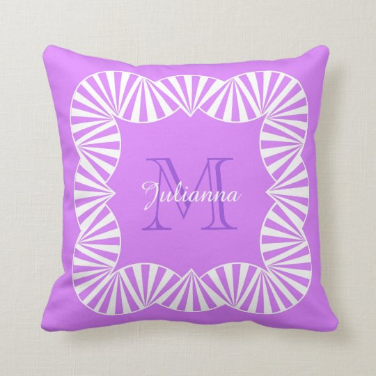CHIC PILLOW_GIRLY 201 LILAC/WHITE RUFFLES THROW PILLOW