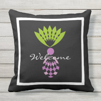 CHIC PILLOW_MOD TROPICAL PURPLE PINEAPPLES THROW PILLOW